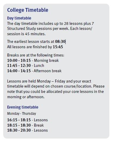 학교 시간표